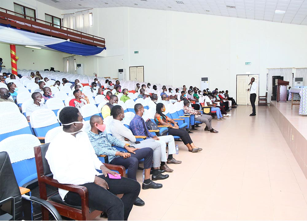 UCC Security personnel listening to presentations